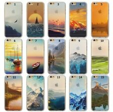 Scenery Transparent Soft Silicon Dream Snow Mountain Case For Iphone 5 5S