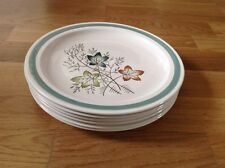 6 Dinner Plates  Burleigh Ware Burgess& Leigh Ltd ( Edinburgh Pattern )