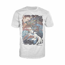Gatchaman Planet Poster Distressed Official Mens White T-shirt Battle of Planets