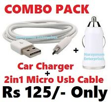 ~COMBO PACK~ USB Port Car Charger + Micro USB Cable For Apple, Sony, Samsung, LG