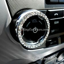 Rhinestone Car Accessory, Crystal Bling Ring Emblem Stickers for Knobs & Buttons