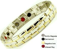 Stainless Magnetic Fir Energy Germanium BALANCE Power Bracelet Health 4 in 1 Bio