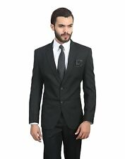 Mens Black slim fit blazer coat jacket+Slim Tie+Pocket Square+Hanger+Cover