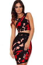 Boldgal Mini Fashion Bandage Two Piece Cocktail Western Dress