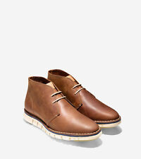 COLE HAAN ZERØGRAND Stitch Out Chukka Boots Sport Shoes Tan Color w/o Box