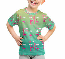 Flamingos In Sunglasses Kids Cotton Blend T-Shirt Unisex Kinder T-shirt