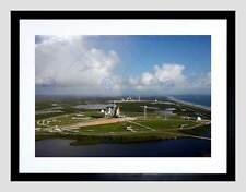 LAUNCH PADS SHUTTLE SPACE ROCKET BLACK FRAMED ART PRINT B12X2428