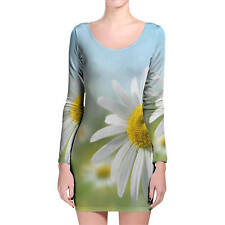 Daisies in Sunshine Longsleeve Bodycon Dress XS-3XL All-Over-Print