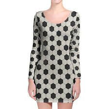 Soccer Ball Longsleeve Bodycon Dress XS-3XL All-Over-Print