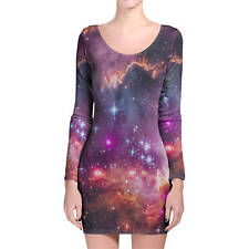 Fairytale Galaxy Longsleeve Bodycon Dress XS-3XL All-Over-Print