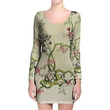 Vintage Florals Longsleeve Bodycon Dress XS-3XL All-Over-Print