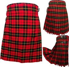 Men's Kilt WALLACE 5 Yard Tartan: Scottish Highland Dress Kilt Size 28 - 46