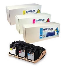 3 COLOUR REMANUFACTURED NON-GENUINE 106R02XXX TONER CARTRIDGES TO FIT XEROX 7100