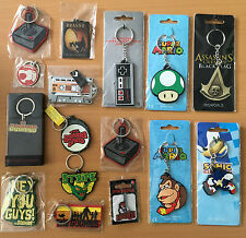 A Range of Retro Keyrings including 80s and Nintendo Keyring  - Choose Your Own