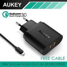 Qualcomm Quick Charge 3.0 Certified Aukey Rapid USB Wall Charger DualPort PA-T16