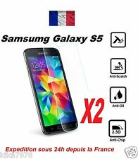 Lot-2 Vitre Film Protection Verre Trempé ECRAN Samsung Galaxy S5