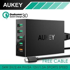 Qualcomm Quick Charge 3.0 AUKEY faster charging 5 port USB Wall Charger PA-T15