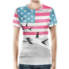 Air Force USA USAF Women Cotton Blend T-Shirt XS-3XL All-Over-Print
