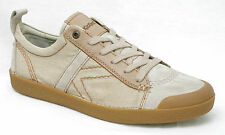KICKERS TRIBAL baskets homme cuir et toile beige taille 45
