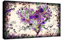 Stunning Purple Tones Abstract Heart Canvas Wall Art Picture Print - A0, A1, A2