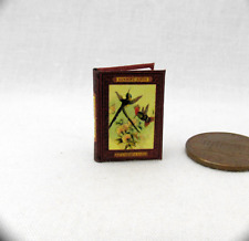 HUMMING BIRDS Dollhouse Miniature Book 1:12 Scale Readable Illustrated Book