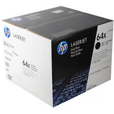 GENUINE HP 64X CC364XD BLACK HIGH CAPACITY MONO LASER TONER CARTRIDGE TWIN PACK