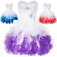 Bead Short Formal Prom Tutu Dresses Bridesmaid Evening Party Cocktail Dress Hot