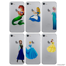 Disney Princess Case/Cover Apple iPhone SE 5s 5 + Screen Protector / Clear Gel