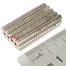 6mm x 3mm Disc Magnets Rare Earth Neodymium Nickel Coating