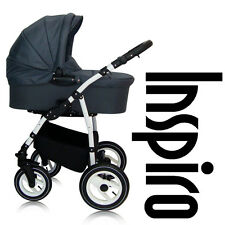 INSPIRO TRAVEL SYSTEM PRAM PUSHCHAIR CAR SEAT ISOFIX BASE SWIVEL WHEELS 10colour