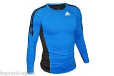 Adidas MMA Long Sleeve Rashguard - Blue - Training BJJ