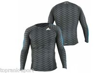 Adidas Patterned Long Sleeve MMA Rashguard - Grey - Training BJJ