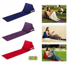 Chill Wedge Inflatable Beach Festival Camping Lounger Back Pillow Cushion Chair