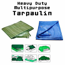 Heavy Duty Waterproof Tarpaulin Strong Ground Sheet Cover Tarp - Choice of Sizes