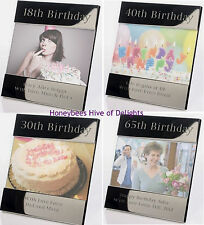PERSONALISED Silver PHOTO Age FRAME For BIRTHDAY Gifts Him HER