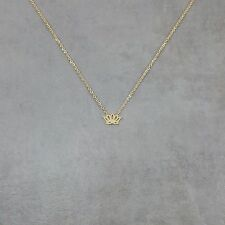 Lotus Flower Gold Necklace Gift Box Buddhist Gold 18K Good Luck Buddhism Life