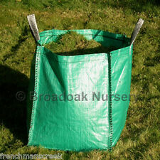 HEAVY DUTY GARDEN WASTE BAG - Strong Large 120 Litre Sack -45x45x60cm- Planter