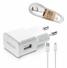Genuine Samsung USB 2A AC Wall Charger + data Cable for Galaxy S4 S5 S6 Note 4