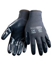1 Pair Nitrile Coated Palm Work Gloves Seamless Nylon Liner -- Hand Protection
