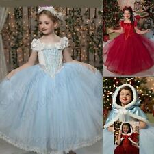 Baby Kid Girl Princess Halloween Costume Fancy Dress Outfit+Cape Clothes Set 3-5