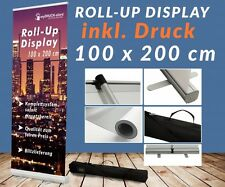 Roll up Display 100x200cm Druck Banner Display Werbedisplay Bannerwerbung 12A03