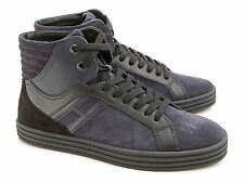 Sneakers alte Hogan Rebel in camoscio color Jeans