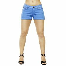 Smilodox Damen Jeans Short Pastelfarben