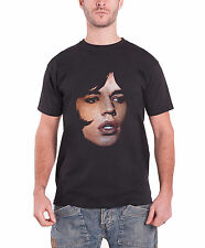 The Rolling Stones T Shirt Mick Jagger Portrait Logo Official Mens New Black