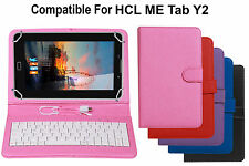 Premium Leather Finished Keyboard Tablet Flip Cover For HCL ME Tab Y2
