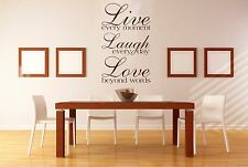 live laugh love texto vinilo decorativo, adhesivo pared, adhesivo, pared