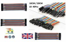 Breadboard Jumper Wire kit Ribbon Cable for Arduino Female - Female 10cm 20cm UK