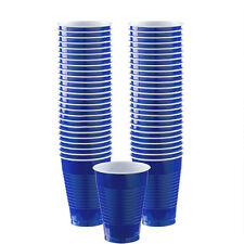 50x Wedding Events Catering Party Tableware Royal Blue Plastic Cups - 355ml