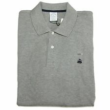 A0676 polo uomo BROOKS BROTHERS grigio manica lunga t-shirt men