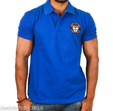TH Persian Blue Embroidered Polo T-Shirt